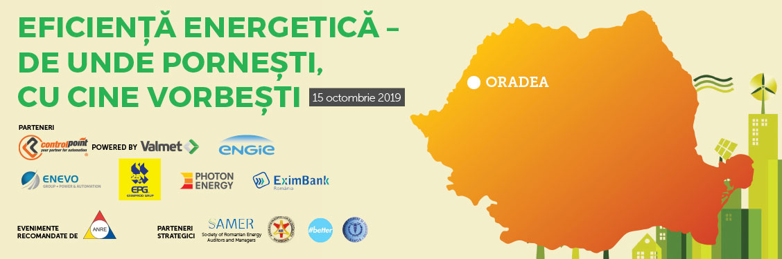 Eficiență energetică – de unde pornești, cu cine vorbești (Oradea, 15 octombrie)